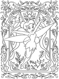 Celebrate National Coloring Book Day with Disney Style | Tinker Bell printable coloring page | [ http://di.sn/6006B0K6k ]