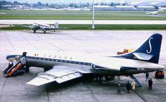 Sabena Caravelle ( and Air France DC3) Paris - le Bourget