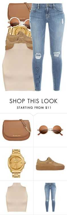 8-20-16| by mindlesslyamazing-143 on Polyvore featuring WearAll, Frame Denim, Puma, MICHAEL Michael Kors and Versace