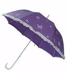 guarda chuva estampado detalhe com rendas 508 roxo lilás