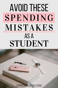 Are you a student who struggles with controlling their spending and saving more money? Find out what my biggest spending mistakes were as a student and learn to control your spending! College Student Budget, Girl College Dorms, College Dorm Essentials, Scholarships For College, College Students, College Hacks, College Checklist, College Survival, Budget Planer