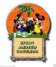 Disney  EPCOT MEXICO PAVILION   ~ Scrapbook, single paper piece  3006 #SINGLE