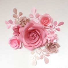 Paper Flowers Giant Paper Flowers Wedding Paper Flower Wall Wedding... ($97) ❤ liked on Polyvore featuring home, home decor, rose centerpieces, pearl centerpieces, hydrangea rose centerpiece, hydrangea centerpiece and rose home decor