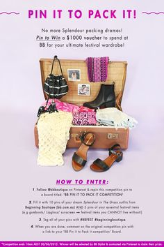Comment below with a link to your created ' BB PIN IT TO PACK IT COMPETITION' board to enter!