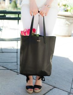 Cuyana Tall Leather Tote @meghandono