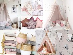 Kids room interior style guide - by Trendenser.se / Pastel and prints