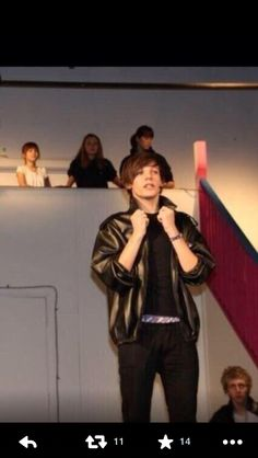 Louis in grease
