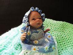 OOAK Polymer clay,Baby sculpt ,art Doll,.original art by Elsie wright