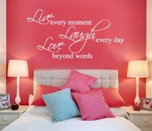 Live Laugh Love Wall Stickers Quotes Wall Sticker Interiors - Instructions on how to put up a wall sticker