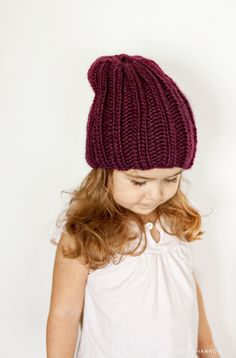 The Keaton Hat Pattern (Available in size Baby - Adult L) Baby Hats Knitting, Knitting For Kids, Free Knitting, Knitted Hats, Crochet Bebe, Knit Crochet, Crochet Hats, Vintage Sewing Patterns, Knitting Patterns