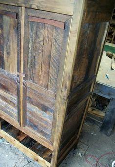 Custom Made Reclaimed Wood Armoire