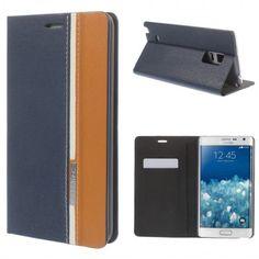 Funda Book Samsung Galaxy Note Edge Contrast Stand Azul