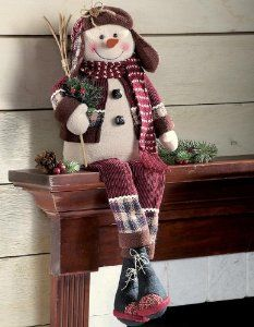 Collections Etc – Singing Primitive Country Holiday Snowman Decoration: Christmas Gifts