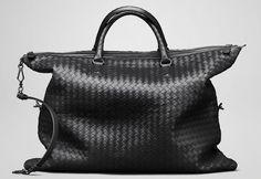 Bottega Veneta Nero Intrecciato Convertible Tote Bag