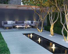 Beautiful Modern Garden Ideas for Small Garden Decorating and Makeover - Garten Modern Backyard, Modern Landscaping, Backyard Landscaping, Landscaping Ideas, Landscaping Edging, Modern Courtyard, Backyard Designs, Landscaping Software, Modern Garden Design