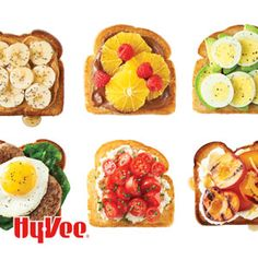 Toast is not boring! Just look at all the fun ways to top toasted slices of your favorite breads. Energy-Boosting Breakfast Toasts are also good options for snacks and quick dinners.
