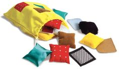 Shop for Teachable Touchables at S&S Worldwide. Build tactile awareness and vocabulary skills. 20 soft textured squares pairs) build tactile awareness and vocabulary skills. Includes tip sheet and drawstring bag. Baby Sensory, Sensory Toys, Sensory Activities, Infant Activities, Babysitting Activities, Preschool Toys, Baby Toys, Kids Toys, Montessori Baby