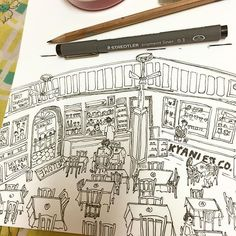 """Kyani and Co. More from my #mumbai series on #sketchbook @rubberband_kit #parsi #cafe #mumbai #sketchoftheday #sketch #illustration #art #artist #painting #ThisIsMyArt #travel #beautiful #instaart #notebook #love #coffee#tea"" Photo taken by @sharmaparul_ on Instagram, pinned via the InstaPin iOS App! http://www.instapinapp.com (08/06/2015)"
