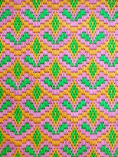 Vintage Bargello Needlepoint Abstract Design