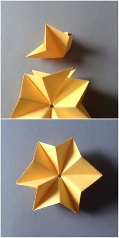 DIY - Stars Mobile: This is one of my favorite instructable, you can use it for celebration, for christmas, for decorating.It is easy to make, and it looks georgeous! Origami 3d Star, Origami Paper, 3d Paper Star, Paper Stars, Easy Christmas Treats, Diy 3d, Diy And Crafts, Paper Crafts, Star Mobile