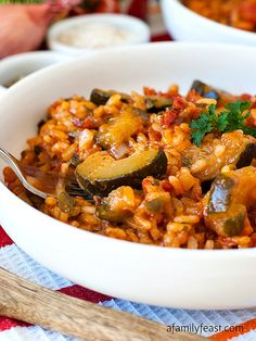Zucchini Tomato Risotto - A zesty and delicious way to eat your veggies!