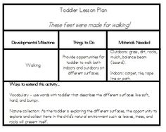 Lesson Plan Form toddler