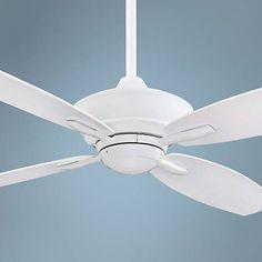 """52"""" Minka Aire New Era Energy Star White Ceiling Fan"""