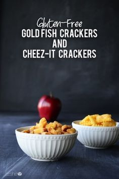 Gluten-Free Goldfish and Cheez-It Crackers Galletas Goldfish y Cheez-It sin gluten Gluten Free Crackers, Gluten Free Snacks, Foods With Gluten, Gluten Free Cooking, Sans Gluten, Healthy Snacks, Healthy Eating, Gluten Free Cheez Its, Gf Recipes