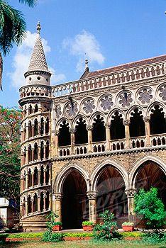 Library building in Venetian Gothic style, University of Mumbai, Mumbai, India | SuperStock Photo