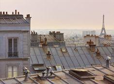 Les toits de Paris entre chien et loups - 2013-04-13 11:19:41  Format = 38 cm x 28 cm.