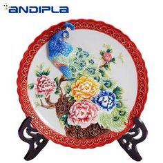 Buy ornaments ceramic peacock online - Buy ornaments ceramic peacock at a discount on AliExpress Mobile Cheap Ornaments, Peacock Art, Asian Decor, Beautiful Interiors, Decorative Plates, Ceramics, Stuff To Buy, Home Decor, Ceramica