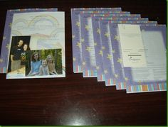 Examples of letter and treat bundles to send to Compassion sponsor children.