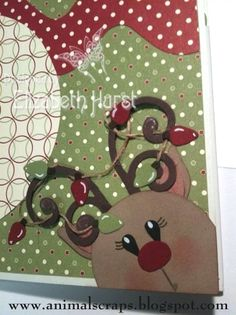 SU Reindeer, for kids cards