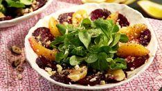 Salát s pomerančem, červenou řepou a oříšky Foto: Beef, Health, Fit, Recipes, Meat, Health Care, Shape, Steak, Salud