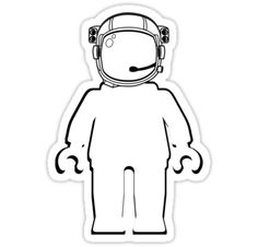 """Banksy Style Astronaut Minifigure by Customize My Minifig"" Stickers by ChilleeW 