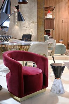 Samt Sessel | Luxus Möbel | Wohndesign | iSalone 2017 | www.brabbu.com