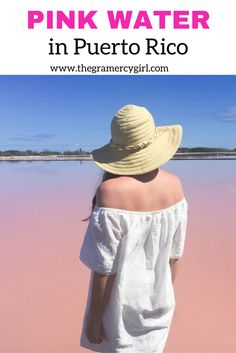 The pink water in Puerto Rico is real and it's AWESOME! Cabo Rojo in Puerto Rico has an amazing beach, Playa Sucia, near the salt flats. You'll definitely want to add this to your travel bucket list so make sure you save it to your travel board!