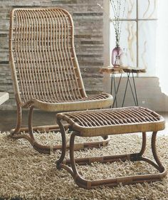 Roost Anders High Back Chair & Ottoman