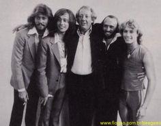 The Gibb Brothers with Robert Stigwood