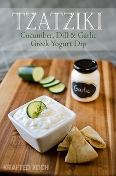 Tzatziki - Cucumber, Dill & Garlic Greek Yogurt Dip Krafted Koch