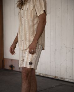 Relaxed and comfortable, these boardies can go beyond the water and be worn long into the night. They'll complement your coastal look and last for many summers' to come. Retro Shorts, Retro Summer, Swim Shorts, Summer Vibes, Shirt Dress, Shirts, Shopping, Fashion, Moda