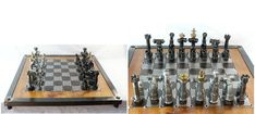 Chess set made with nuts, bolts and tube bits