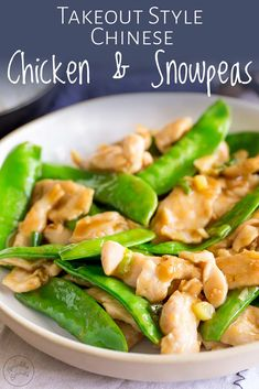 With this Takeout Style Chicken and Snow Peas stir fry you can have a healthy Asian chicken dinner on the table in no time Making Chinese takeout recipes at home is much. Pea Recipes, Healthy Dinner Recipes, Cooking Recipes, Healthy Asian Recipes, Asian Chicken Recipes, Asian Cooking, Cooking Wine, Families, Chinese Food