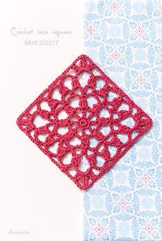 Crochet Square Motif  2/2017, Anabelia Craft Design