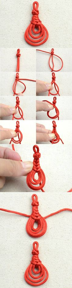 DIY Cute Knot Pendant Tutorial diy craft crafts craft ideas diy ideas diy crafts how to tutorial teen crafts crafts for teens