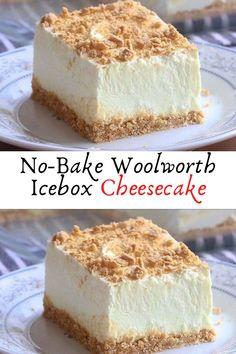 No-Bake Woolworth Icebox Cheesecake #No-Bake #Woolworth #Icebox #Cheesecake #Dessert #Desserts