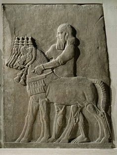 Alabaster bas-relief (8th BCE) from the palace of Sargon II in Khorsabad