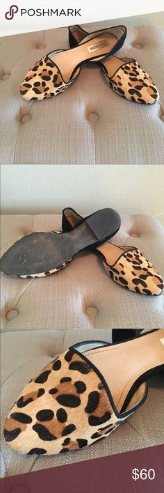 HOST PICK!! Steve Madden Leopard Slip-on These are so beautiful! With calf hair leopard detailing these will be your new favorite flats! Steve Madden Shoes Flats & Loafers