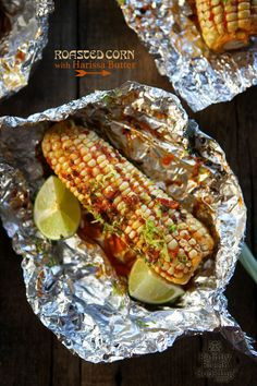 Roasted Corn with Harissa Butter |