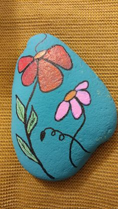 #flowerpainting #rockpainting #mothersday #vrrocks